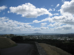 The View Of Rangitoto Island from One Tree Hill