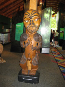 Carving at the Arataki Visitor Centre