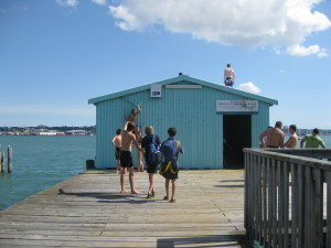 An after school swim in Devonport