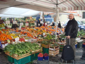 The market near Via Taormina