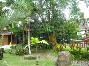 Tropical gardens at Uprising Beach Resort